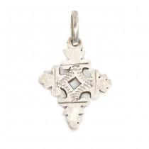 Vechi pandant cruce coptică | manufactură în argint | Etiopia