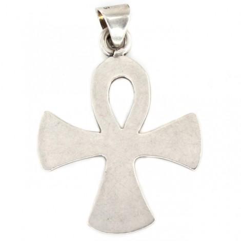 Inedit pandant cruce ANKH - crucea Calixtlahuaca | manufactură în argint | atelier Taxco - Mexic