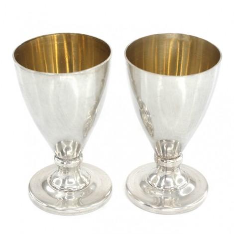 Pereche pahare din argint pentru băuturi spirtoase | atelier Gonnelli Gabriella Ved. Tacchi | Italia anii '70