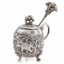 Solniță din argint pentru condimente | manufactură de atelier indian în stil Kutch | India -  British Raj cca.1880