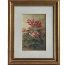 Pictură Trandafiri în ulei pe pânză | autor Edo Albisetti - Italia cca  1980 -1990