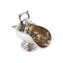 Elegantă zaharniță edwardiană |  britannium argintat | atelier Robert Pringle & Sons | Marea Britanie cca. 1910 - 1920