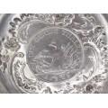 Vide-poche din argint decorat cu monedă 1 taler 1786 Frederich II al Prusiei   atelier Richard Garten   Germania cca. 1880 - 1890