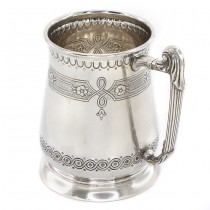 Halbă din argint masiv splendid elaborată și decorată în stil victorian | atelier Bulzi Desiserio | Milano cca.1955
