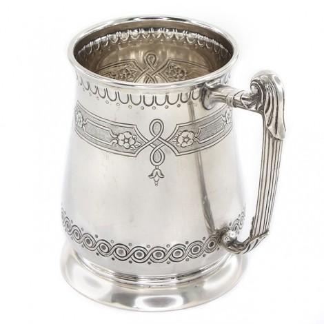 Halbă din argint masiv splendid elaborată și decorată în stil victorian | atelier Bulzi Desiderio | Milano cca.1955