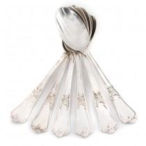 Lingurițe din argint decorate în manieră NeoRococo | atelier Miracoli & C.| Italia  cca. 1950 -1960