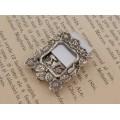 Ramă foto miniaturală din argint rafinat decorată în stil Art Nouveau