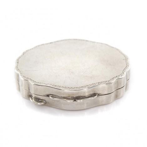 Cutiuță din argint pentru pastile sau creme |  interior aurit | Italia cca. 1960