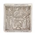 Veche iconiță din argint pentru călătorie | Praznicul Nașterii Domnului | Rusia Imperială cca.1910