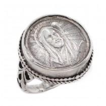 Vechi inel ecleziastic din argint | Isus Hristos | Franța secol XIX