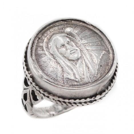 Vechi inel ecleziastic din argint   Isus Hristos   Franța secol XIX