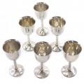 Set de 6 pahare din argint pentru servirea vinului și a băuturilor aperitive | atelier De Re | Firenze cca.1970