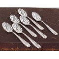 Serviciu format din 6 lingurițe de argint pentru ceai cafea și deserturi fine | atelier Calegaro Luigi fu Natale | Padova  cca.1950 -1960