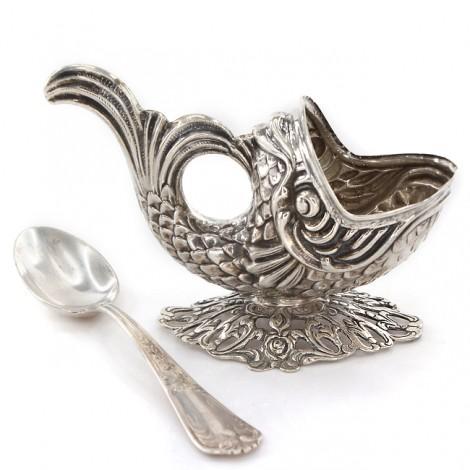 Garnitură din argint pentru servirea caviarului | cca. 1930 - 1950
