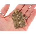 Amuletă pectorală Etruscan Revival manufacturată în argint aurit | atelier Marcello Fontana | cca. 1980