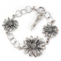 Elegantă brățară din argint accesorizată cu o amuletă Cornicello | Margarete | atelier Giovanni Raspini | colecția 2020