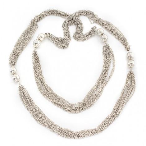 Rafinat colier multistrand din argint | atelier Frado di Domini Riccardo | Arezzo  anii 2000