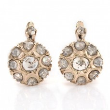 Cercei Art Deco din aur 12 K decorați cu diamante naturale 1.10 CT | Marea Britanie cca.1900 - 1920