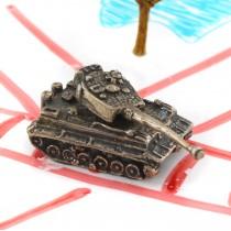 Miniatură tanc din argint | Italia