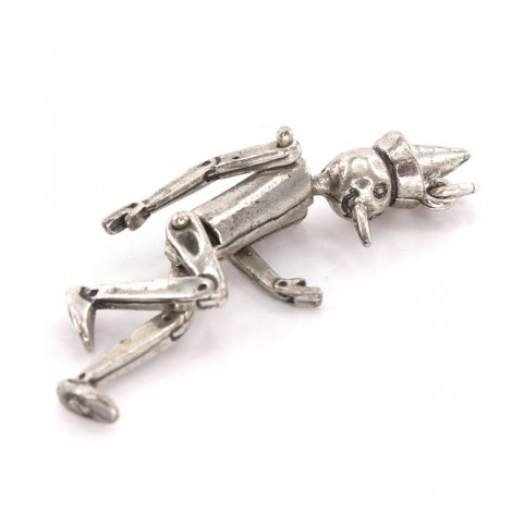 Pandant cinetic stilizat sub forma personajului Pinocchio   manufactură în argint