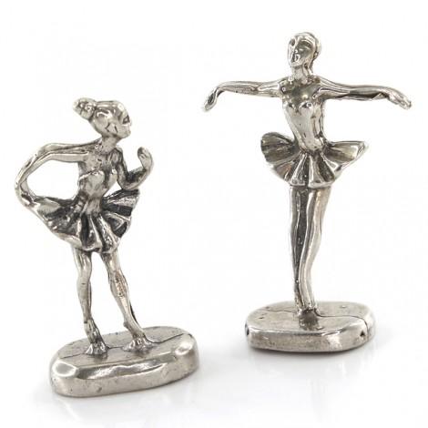 Figurine miniaturale din argint   Balerine