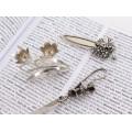 Set de accesorii din argint: semn de carte, coupe-papier & sfeșnic miniatural