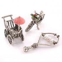 Miniaturi din argint - simboluri ale maternității și prunciei | Fata mamii | Italia