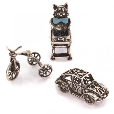 Miniaturi din argint - simboluri ale maternității și prunciei | Baiatul mamii | Italia