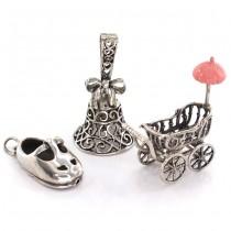Miniaturi din argiint - simboluri ale maternității și copilăriei | It's a girl !