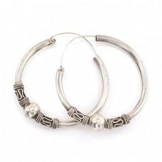 Cercei creole statement balineze | manufactură în argint | Indonezia