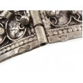Veche brățară etnică magrebiană decorată prin filigranare și granulare manuală | argint | import colonial francez | Mantegazza & Bisceglia cca.1920 - 1930