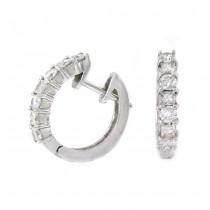 Rafinați cercei din aur alb 18k decorat cu diamante naturale 0.57 CTW | Franța