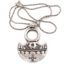 Colier accesorizat cu o inedită amuletă tuaregă | manufactură în argint | Egipt
