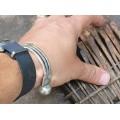 Veche brățară etnică beduină | unisex | manufactură în argint | Egipt