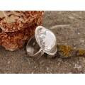 Inel statement tuareg | argint gravat manual | manufactură | Niger