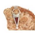 Colier tuareg choker decorat cu o impozantă amuletă pentru fertilitate   Tanfouk   manufactură unicat în argint   Niger