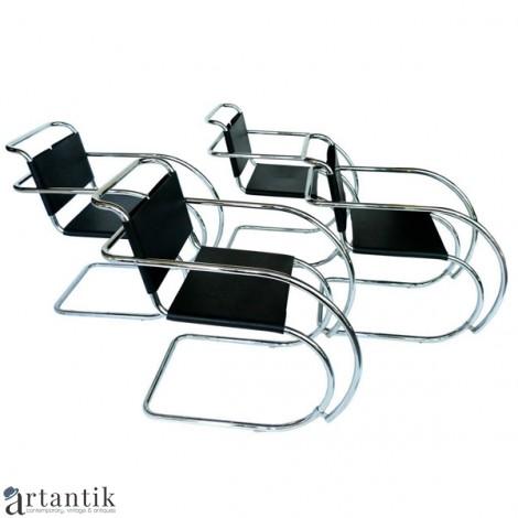 Set de patru fotolii MR Armchair - design Ludwig  Mies van der Rohe by Bononia