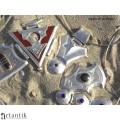 Colier choker tuareg | argint & intarsie de abanos | unicat | Niger