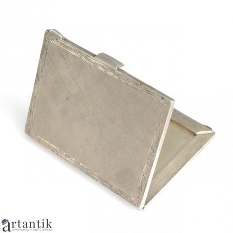 Veche ramă foto miniaturală, de voiaj   manufactură în argint   Italia