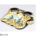 Elegantă encrieră din ceramică majolica | atelier Marmaca | Republica San Marino | anii '50