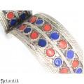 Veche casetă pentru bijuterii & brățară berberă   cupru argintat și emailat   Maroc