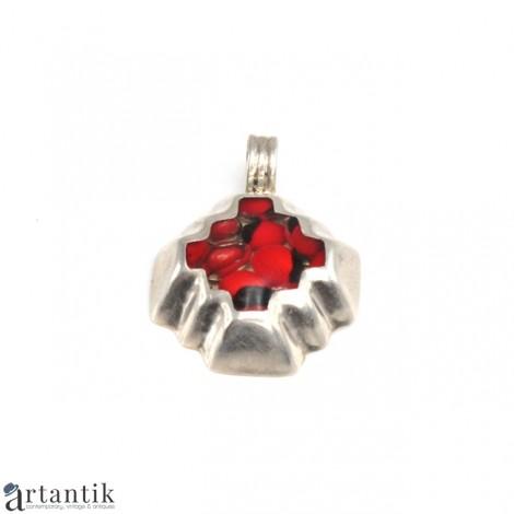 Inedită amuletă porte-bonheur peruviană | Teotihuacán | argint & semințe de Huayruro